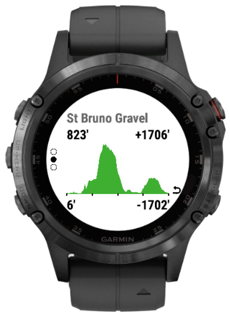 Using routeCourse on your Fenix 5, Marq or Forerunner 245/645/935
