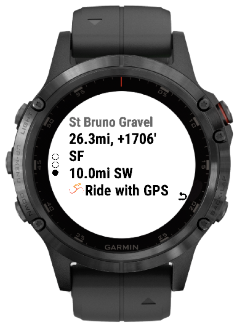 Using routeCourse on your Fenix 5, Marq or Forerunner 245